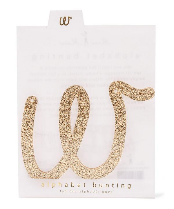 Glitter W Acrylic Bunting Letter