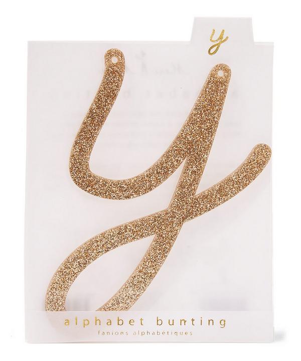 Glitter Y Acrylic Bunting Letter