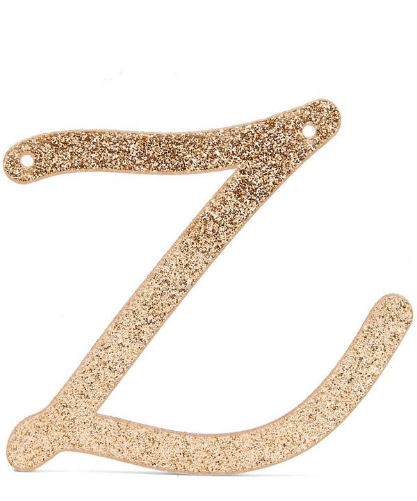 Glitter Z Acrylic Bunting Letter