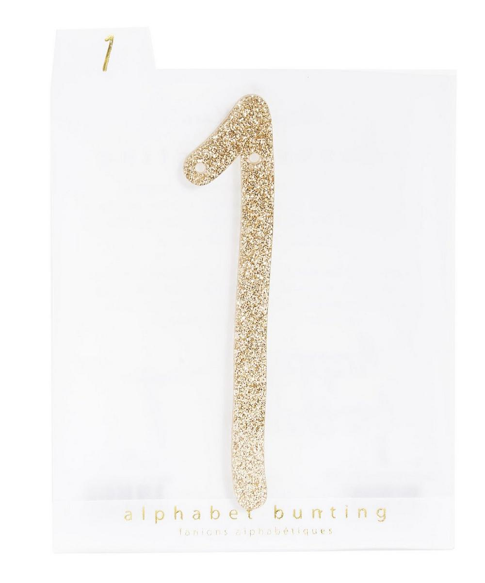 Glitter 1 Acrylic Bunting Number