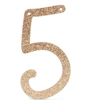 Glitter 5 Acrylic Bunting Number