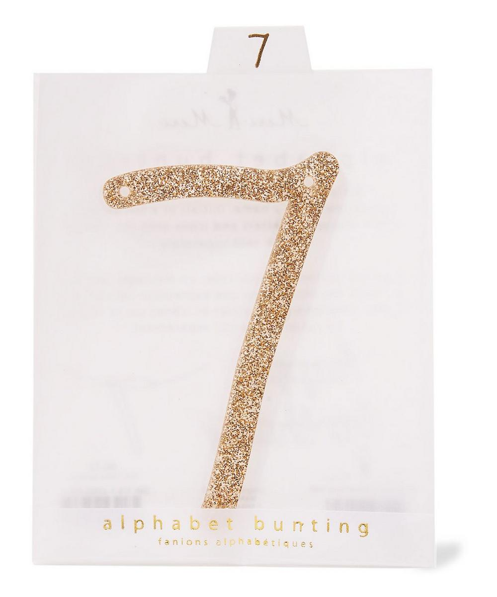Glitter 7 Acrylic Bunting Number