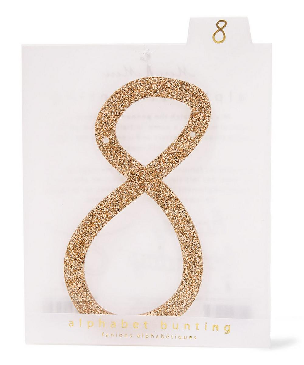Glitter 8 Acrylic Bunting Number