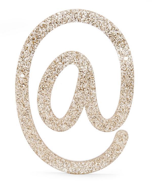 Glitter At Sign Acrylic Bunting Character