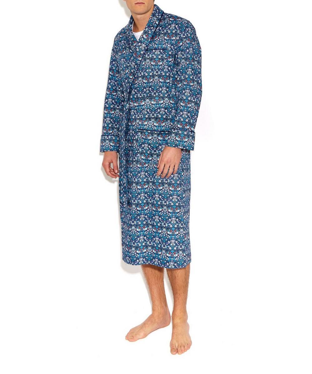 Strawberry Thief Long Cotton Robe