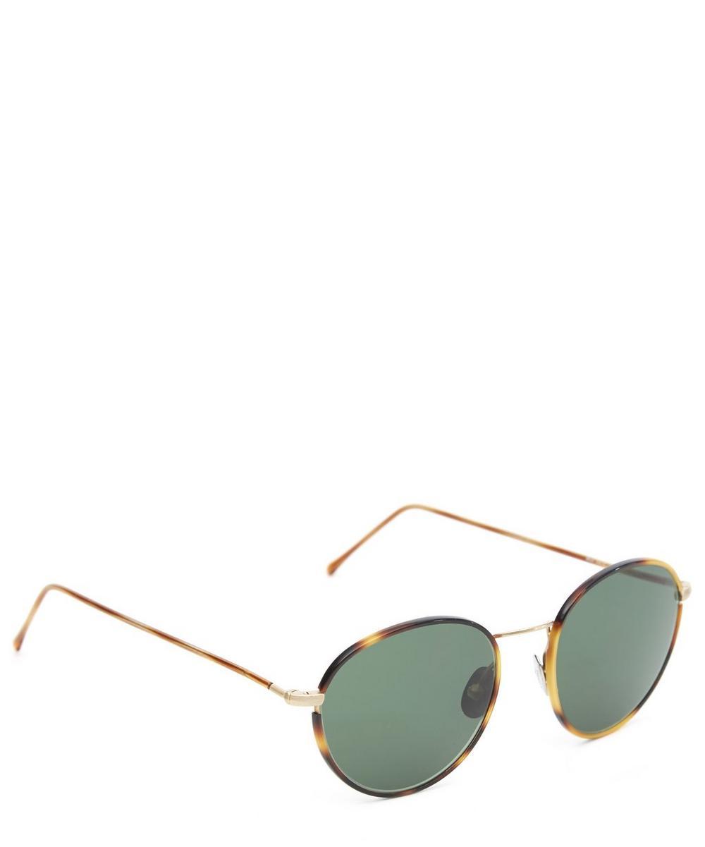 0412 Vintage Round Tortoiseshell Sunglasses