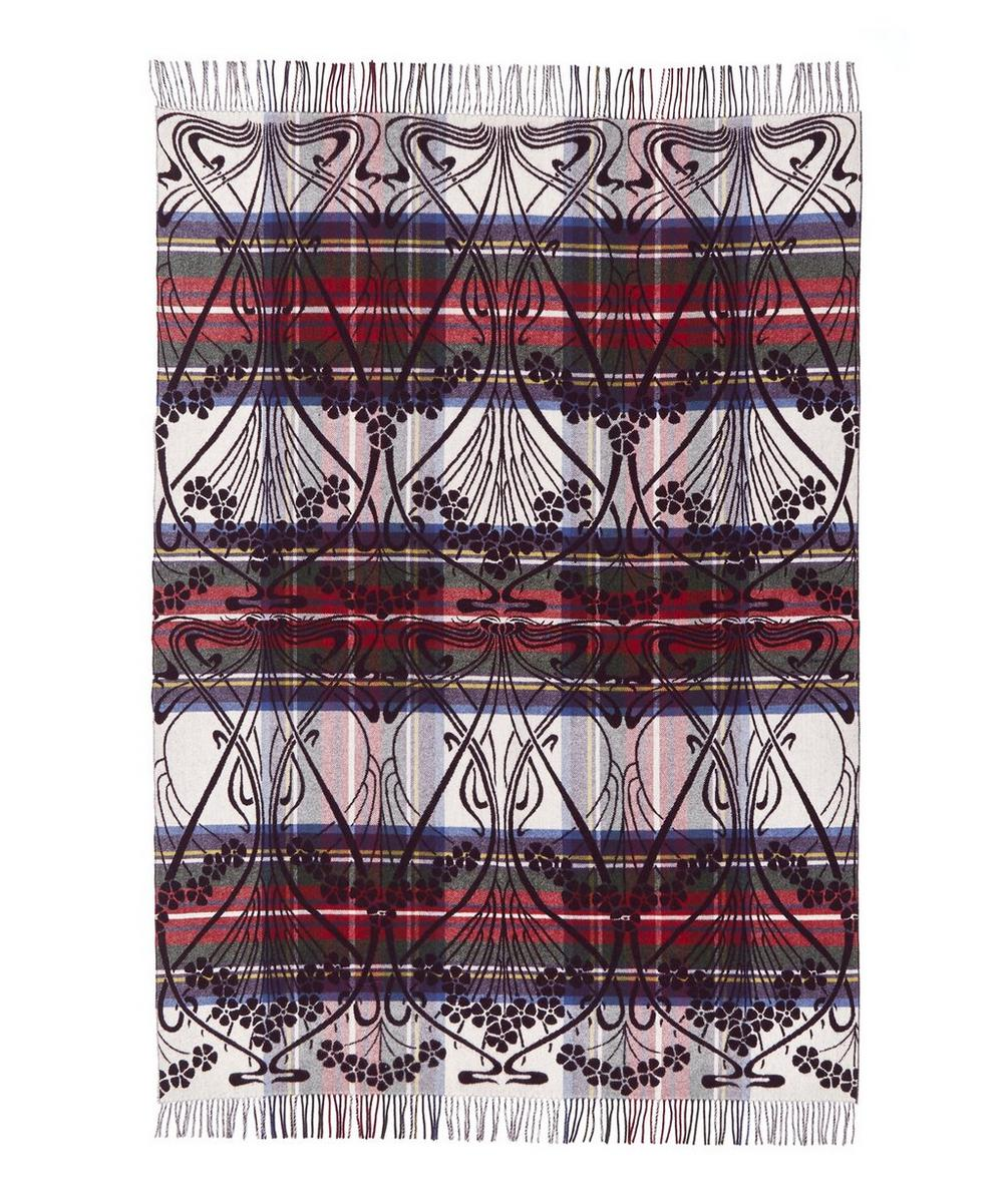 Ianthe Tartan in Stewart Liberty Lambswool Throw