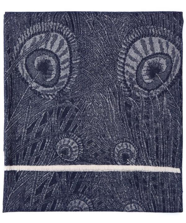 Hera in Ivan Blue Merino Wool Throw