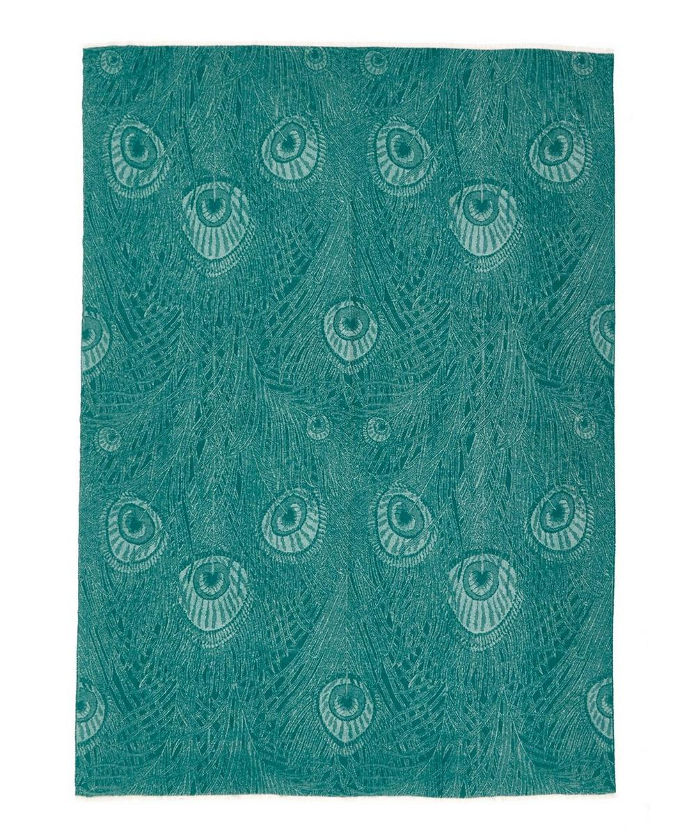 Hera In Peacock Merino Wool Throw