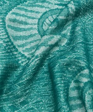 Hera In Peacock Merino Wool Throw
