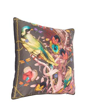 Birds in Chains Silk Cushion