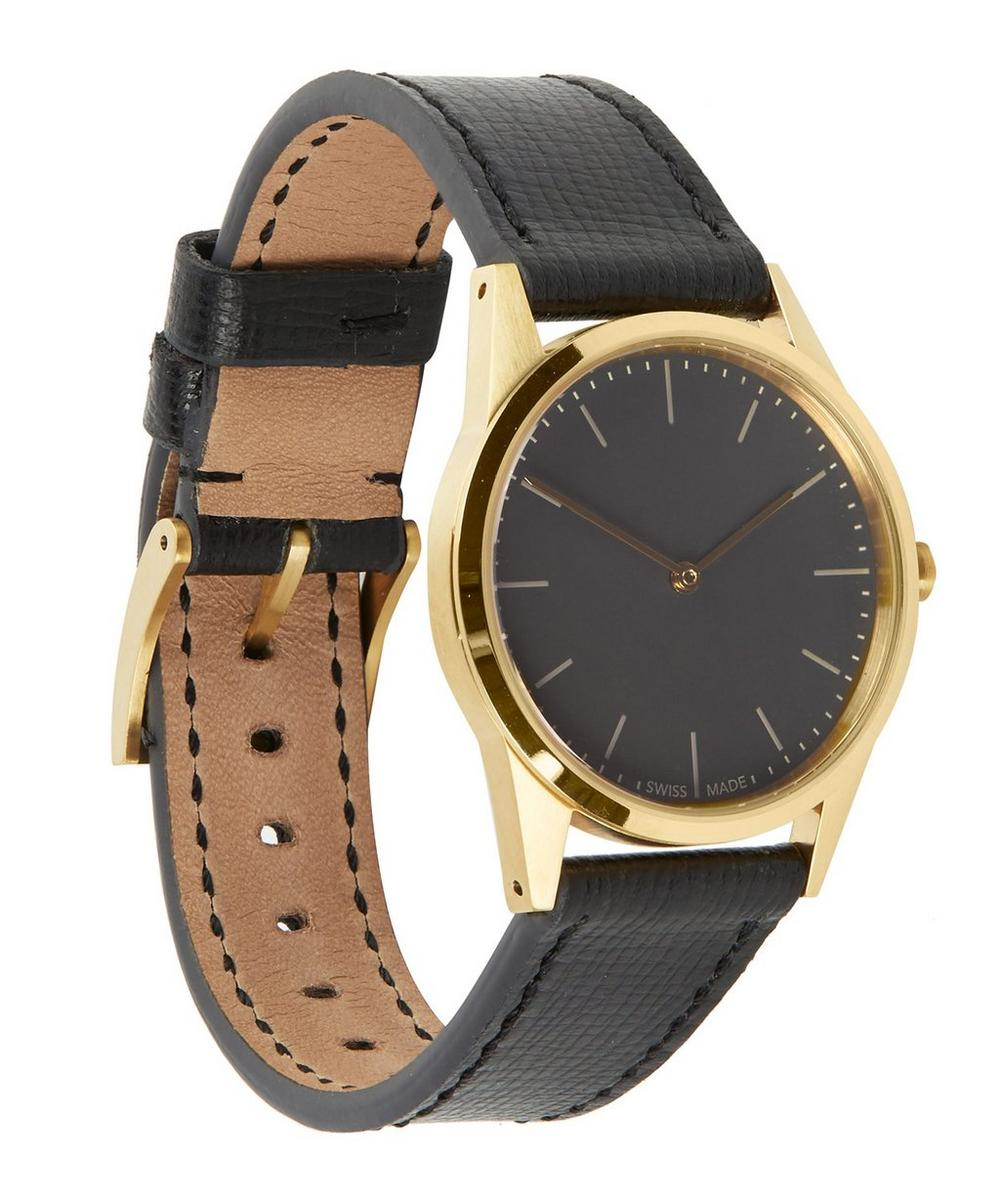 C33 PVD Gold with Calf Leather Strap Watch