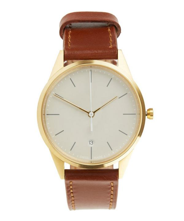 C36 PVD Gold Cordovan Leather Watch
