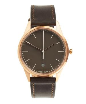 C36 PVD Rose Gold Cordovan Leather Watch