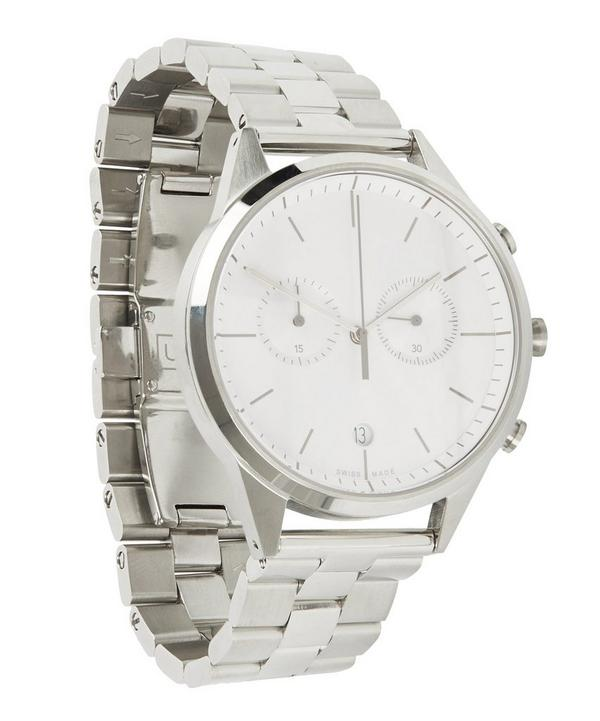 C39 Polished Steel Chronograph with Polished and Brushed Bracelet Watch