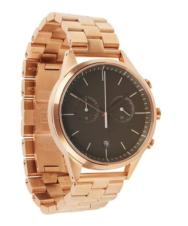 C39 PVD Rose Gold Chronograph Bracelet Watch