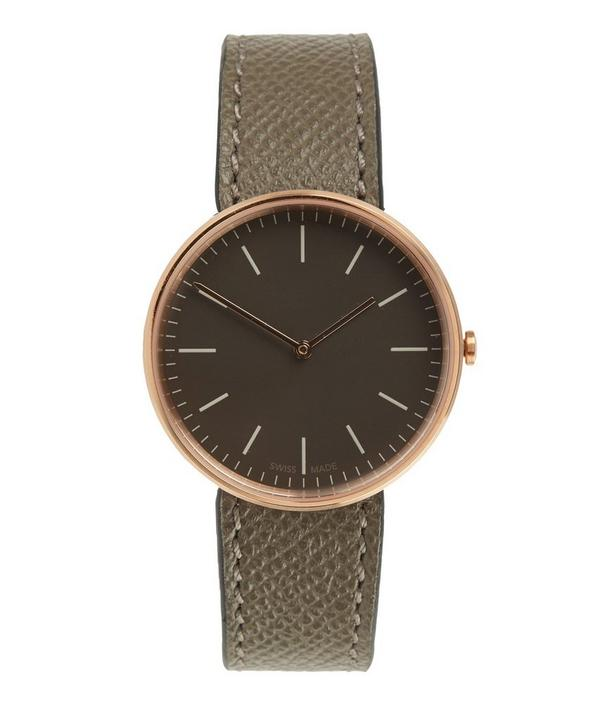 M35 PVD Rose Gold Case with Florentine Leather Strap Watch