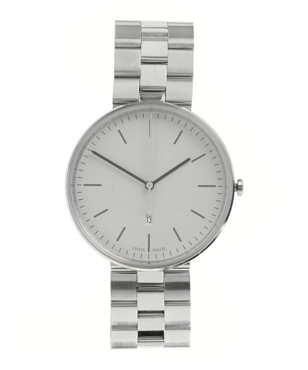M38 Polished Steel Case with Polished and Brushed Bracelet Watch