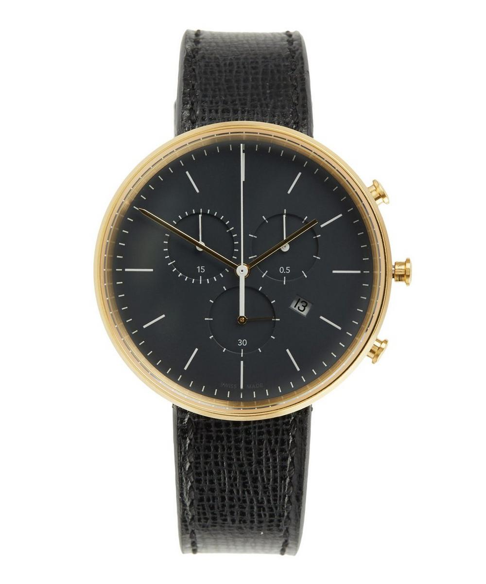 M40 PVD Satin Gold Case with Florentine Textured Leather Strap Watch