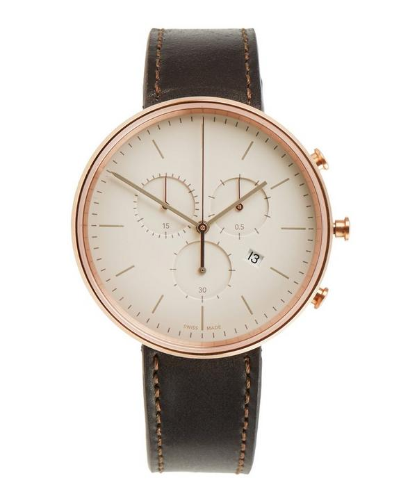 M40 PVD Rose Gold Case with Cordovan Leather Strap Watch