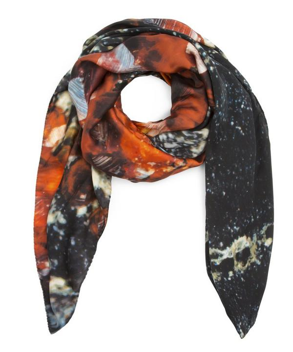 January Garnet Birthstone Silk Satin Scarf