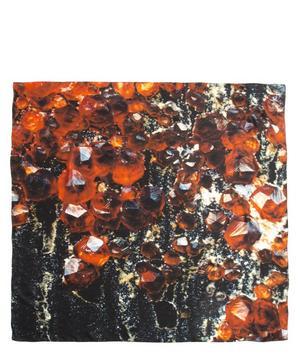 January Garnet Birthstone Silk Satin Scarf