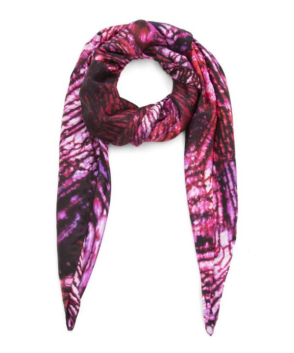 July Ruby Birthstone Silk Satin Scarf