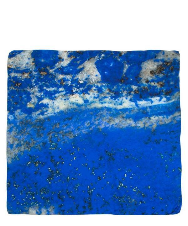 September Lapis Lazuli Birthstone Silk Satin Scarf