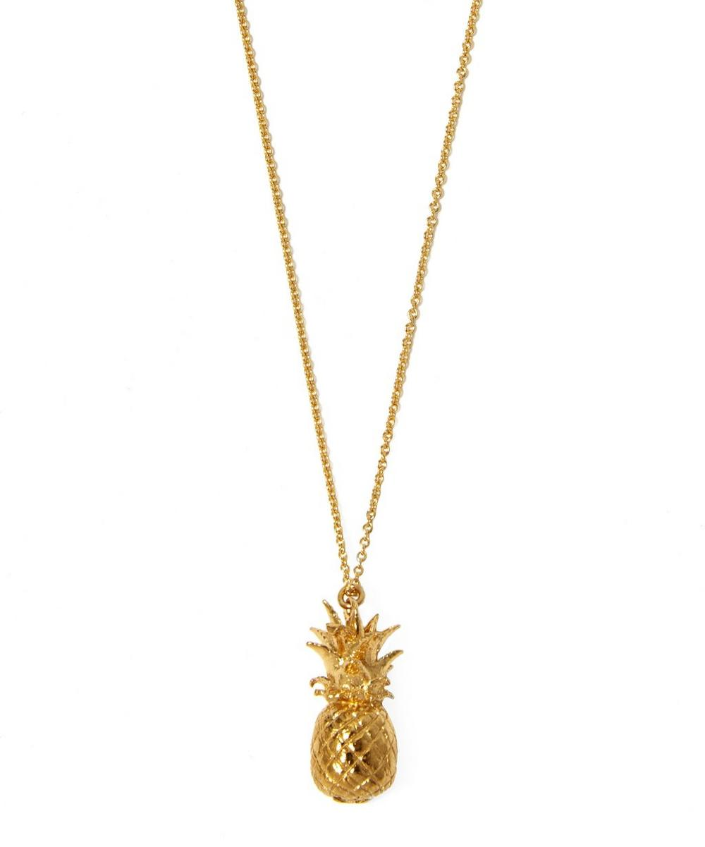 Gold-Plated Pineapple Necklace