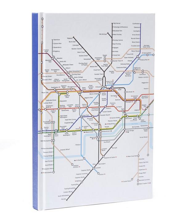 London Tube Map Cased A5 Notebook