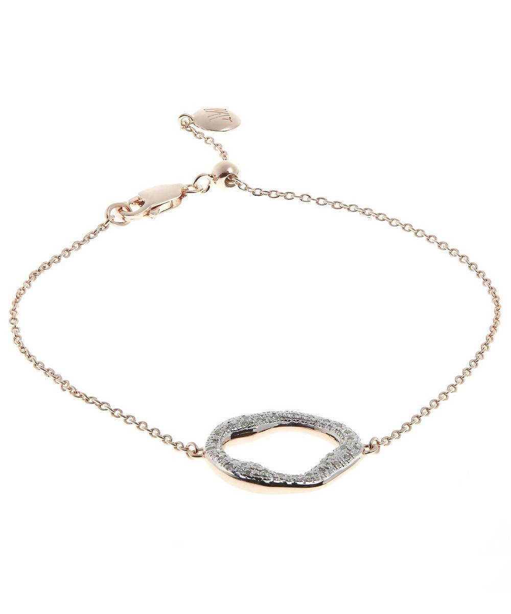 Rose Gold-Plated Riva Diamond Circle Chain Bracelet