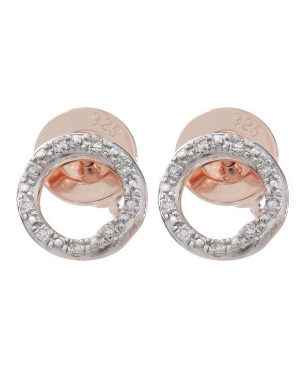 Gold-Plated Riva Diamond Circle Studs