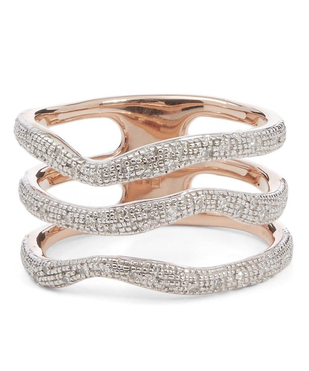 Riva Diamond Wave Triple Band Ring