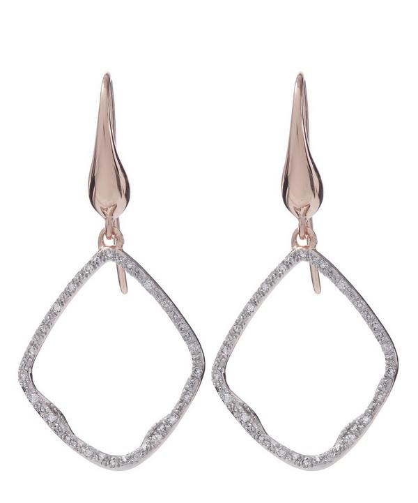 Gold-Plated Riva Diamond Hoop Earrings