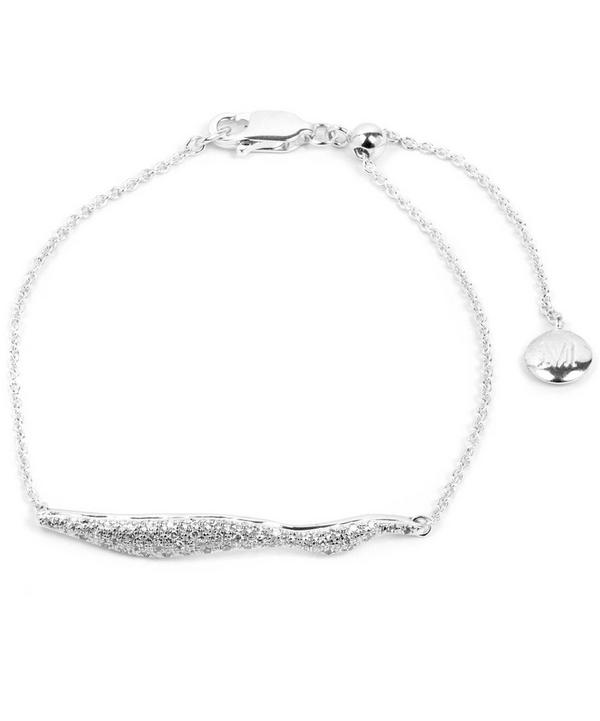 Silver Riva Diamond Wave Chain Bracelet