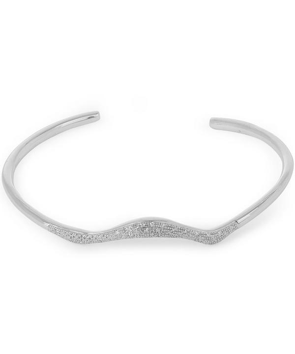 Silver Riva Diamond Wave Cuff