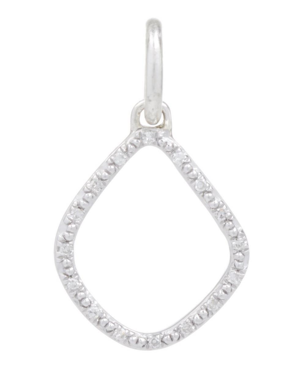 Silver Diamond Kite Pendant