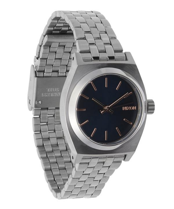 Silver-Tone Small Time Teller Watch