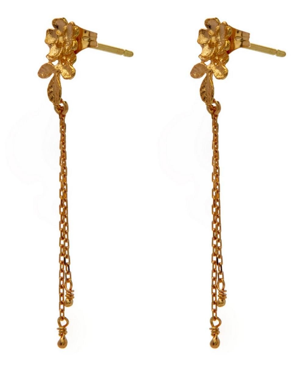 18ct Gold Rosa Catena Earrings