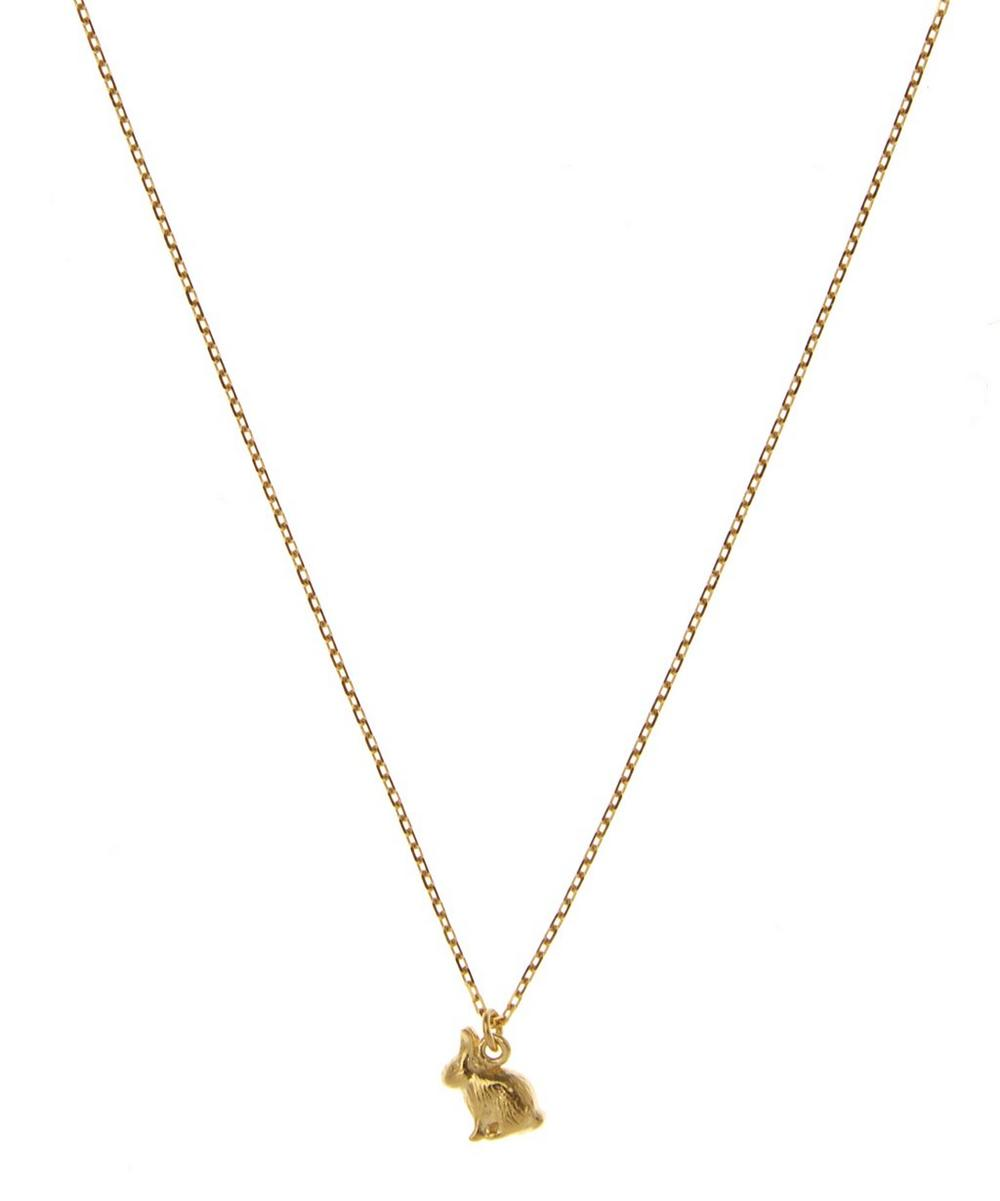 18ct Gold Teeny Tiny Sitting Bunny Necklace