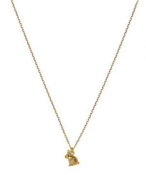18ct Gold Teeny Tiny Sitting Bunny Necklace