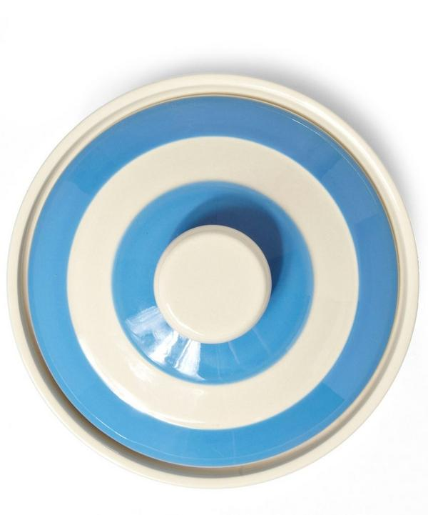 Stripe Stoneware Butter Dish