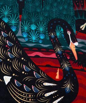 Black Swan Velvet Cushion