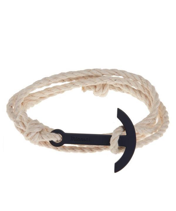 Modern Anchor on Rope Bracelet