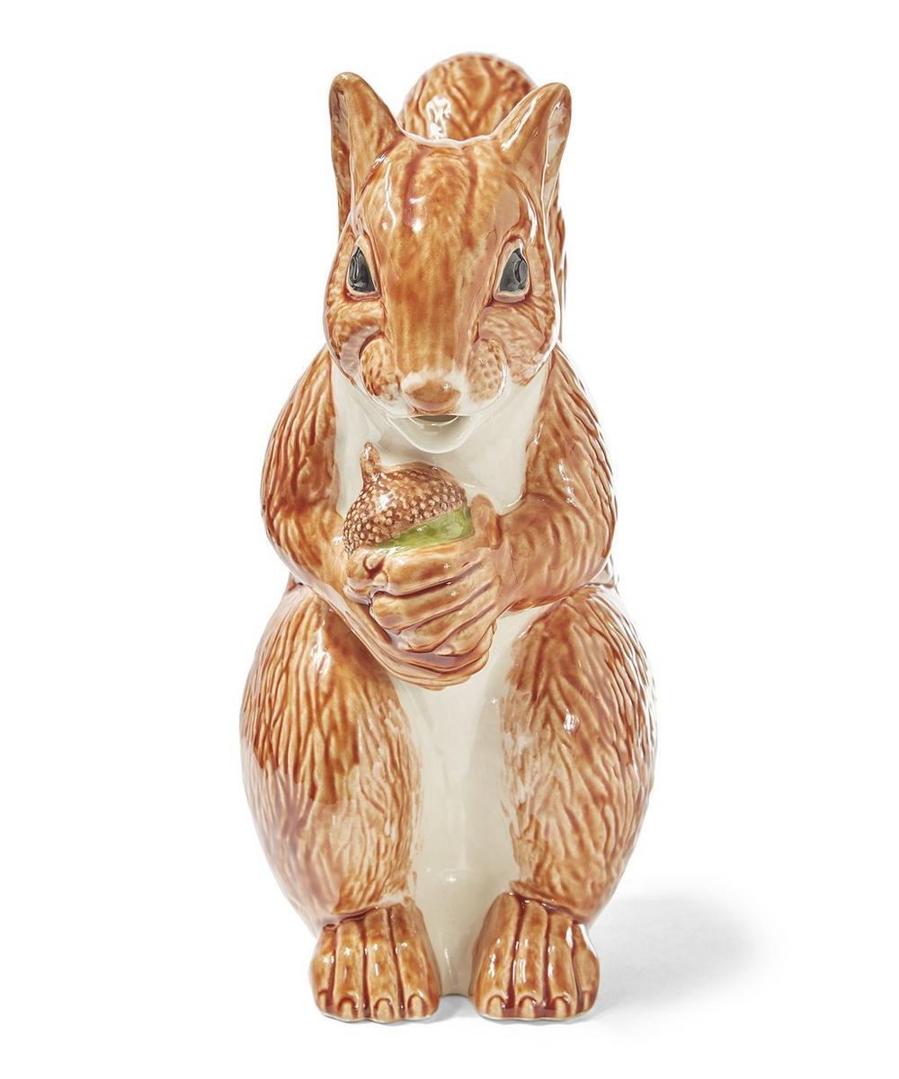 Squirrel Earthenware Pitcher