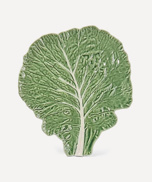 Large Cabbage Leaf Earthenware Flat Plate