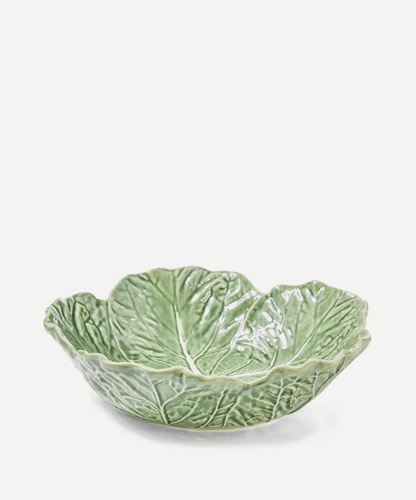 Cabbage Leaf Earthenware Bowl