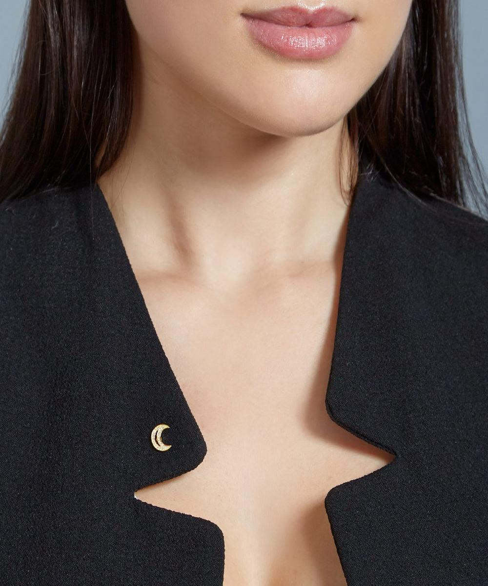 Gold-Plated Moon Biography Pin