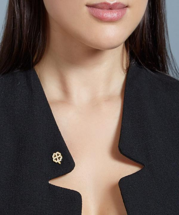 Gold-Plated Four Leaf Clover Biography Pin