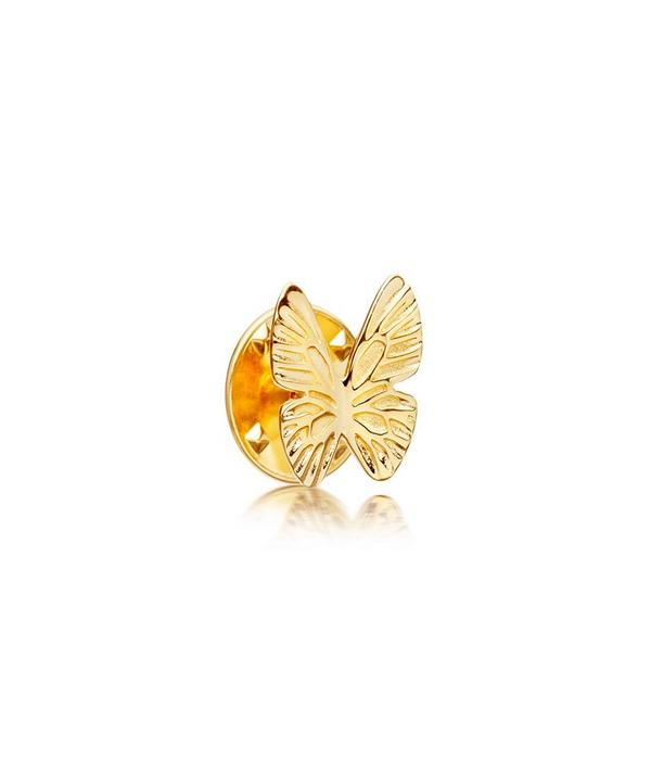 Gold-Plated Butterfly Biography Pin